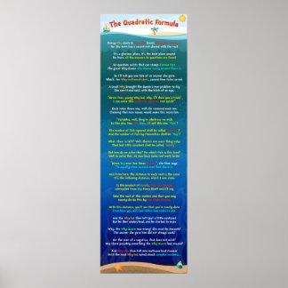 The Quadratic Formula Poster