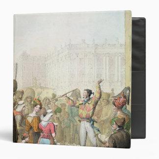 The Quai d'Ecole, Paris, 1831 3 Ring Binder