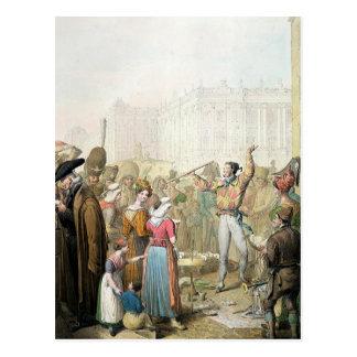The Quai d'Ecole, Paris, 1831 Postcard