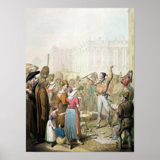 The Quai d'Ecole, Paris, 1831 Poster