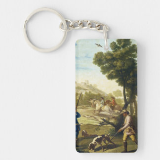 The Quail Hunting Francisco José Goya masterpiece Double-Sided Rectangular Acrylic Keychain