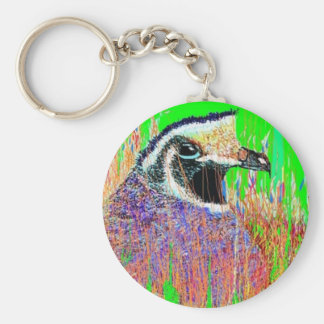 The Quail In The Spring Basic Round Button Keychain