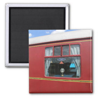 The Quantock Belle, Luxury Dining Train 2 Inch Square Magnet