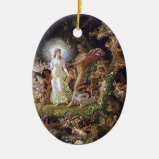 The Quarrel of Oberon and Titania Ceramic Ornament