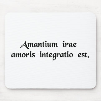 The quarrels of lovers are the renewal of love. mouse pad