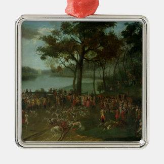The Quarry at the Etangs de Commelles in 1771 Metal Ornament