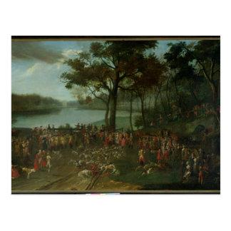 The Quarry at the Etangs de Commelles in 1771 Postcard
