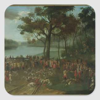 The Quarry at the Etangs de Commelles in 1771 Square Sticker
