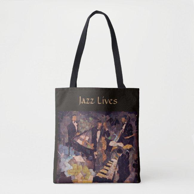 The Quartet - Jazz Music Lives Tote Bag