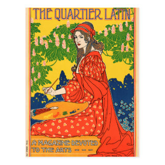 The Quartier Latin. A Magazine devoted to the Arts Postcard
