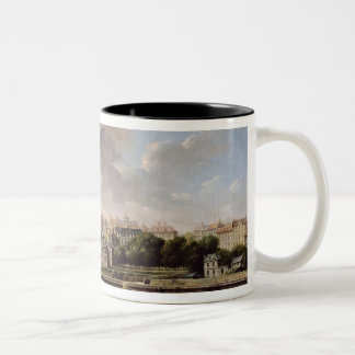 The Quay and Village of Passy in 1757 Two-Tone Coffee Mug