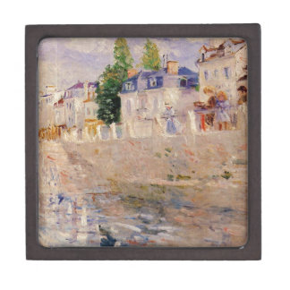 The Quay at Bougival by Berthe Morisot Jewelry Box