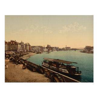 The Quay, Liège, Belgium Postcard
