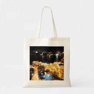 The Quebec night scene Tote Bags