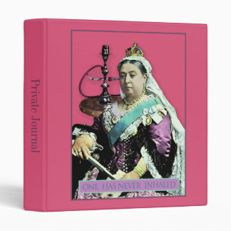 The Queen and The Hookah 3 Ring Binder