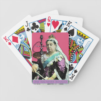 The Queen and The Hookah Bicycle Playing Cards