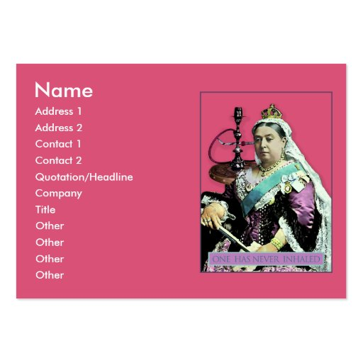 The Queen and The Hookah Business Card Templates