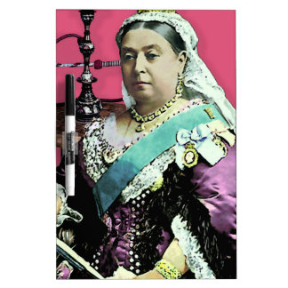 The Queen and The Hookah Dry-Erase Board