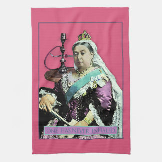 The Queen and The Hookah Hand Towel