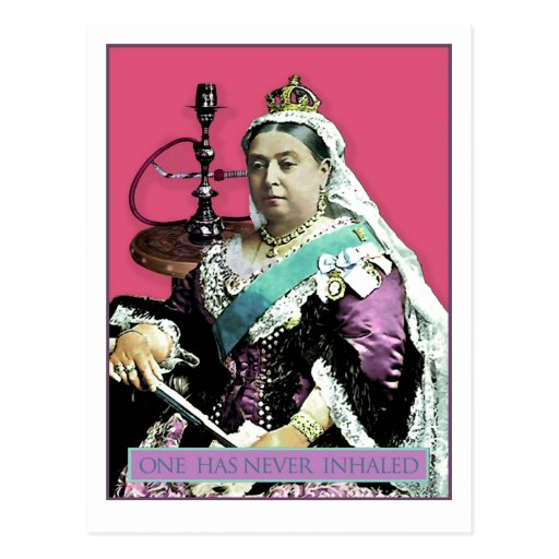 The Queen and The Hookah Postcard