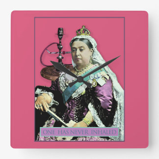 The Queen and The Hookah Square Wallclock