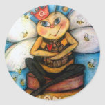"""The Queen """"B"""" of The Hive Round Stickers"""