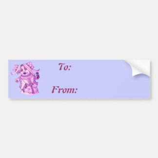 The Queen by Lewis Carroll Purple Tint Bumper Sticker