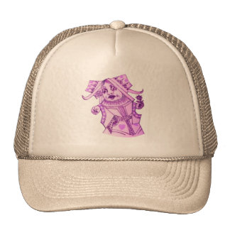 The Queen by Lewis Carroll Purple Tint Mesh Hats