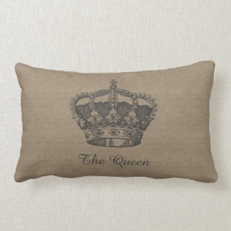 The Queen Canvas-Look Pillow