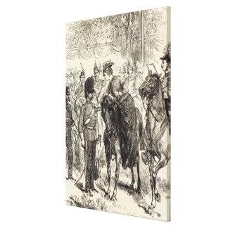 The Queen distributing Victoria Crosses Canvas Print
