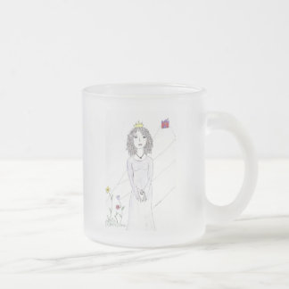 The Queen Frosted Glass Coffee Mug