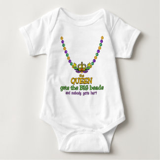 The Queen gets the BIG beads Baby Bodysuit