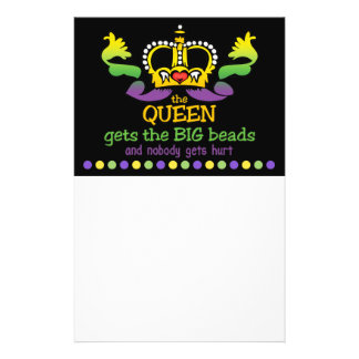 The Queen gets the BIG beads Custom Flyer