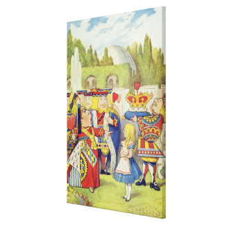 The Queen has come! And isn't she angry.' Canvas Print