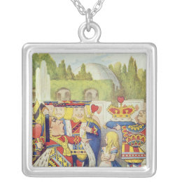 The Queen has come! And isn't she angry.' Silver Plated Necklace