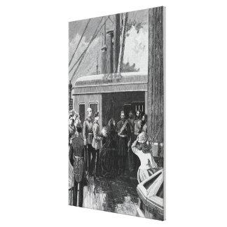 The Queen investing Abdul Aziz Canvas Print
