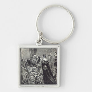 The Queen investing the Emperor of the French Keychain