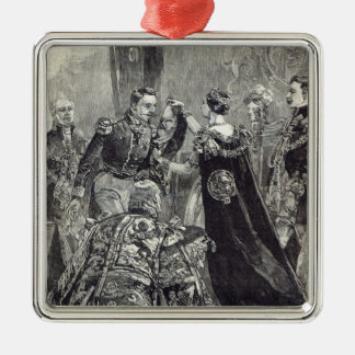 The Queen investing the Emperor of the French Metal Ornament