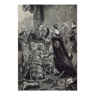 The Queen investing the Emperor of the French Poster