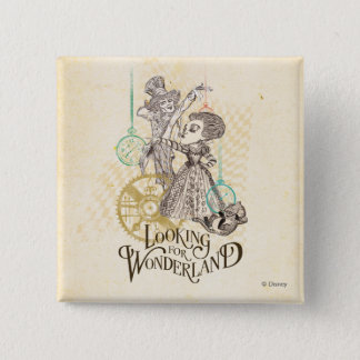 The Queen & Mad Hatter | Looking for Wonderland Button