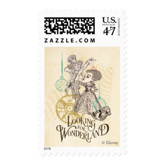 The Queen & Mad Hatter | Looking for Wonderland Stamp