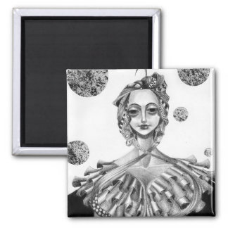 The Queen 2 Inch Square Magnet