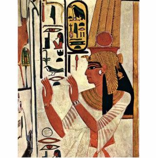 The Queen Nefertari In Prayer Stance By Maler Der Standing Photo Sculpture