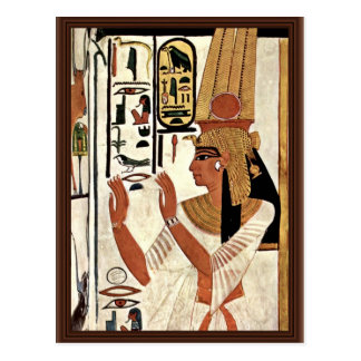 The Queen Nefertari In Prayer Stance By Maler Der Postcard