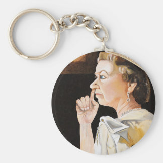 The Queen 'nose' she picked a diamond year. Keychain