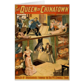 The Queen of Chinatown Greeting Card