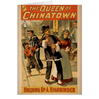 The Queen of Chinatown, 'Holding up a Highbinder' Greeting Card