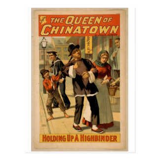 The Queen of Chinatown, 'Holding up a Highbinder' Postcard