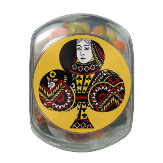 The Queen of Clubs Jelly Belly Candy Jars