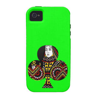 The Queen of Clubs Case-Mate iPhone 4 Case